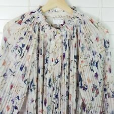 WITCHERY Womens Size 12 Print Pleated Blouse Top