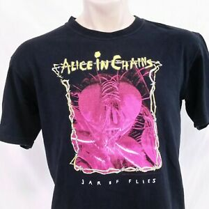 Vintage 2004 Alice In Chains T Shirt Jar Of Flies Tee Tour Concert Band Large