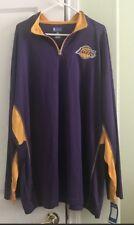 Mens Lakers 3/4th Zipped Mens Sweatshirt SZ 4X  NWT