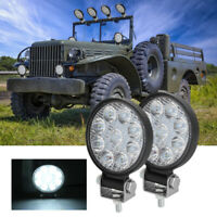 "2Pcs 9 LED Light Bar Truck Offroad Driving Fog Lamps 3"" Round SUV Flood Spot ATV"