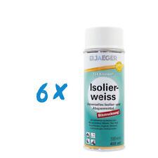 (43,75€/ L) 6x Jaeger 124 Kronen Isolierweiss 400ml Isolierspray, weiß
