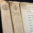 LOT OF THREE OLD DOCUMENTS 1700-1800s