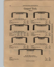 1903 PAPER AD 4 PG Coopers' Tools Barrel Maker White's Draw Knife Hoop Shave