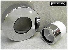 Tubo de cromo de residuos 32 mm 35 mm adaptador de plástico a acoplamiento con una funda de Pared Cromado