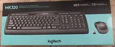 Logitech Desktop MK320 Wireless Combo Keyboard And Mouse Black (920-002836)