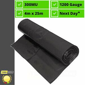 Black Extra Heavy Duty Polythene Plastic Sheeting DPM DPC Damp Proof Membrane 3