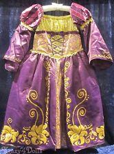 Disney Designer Fairytale Rapunzel Deluxe Girls Princess Costume Dress 5-6 New!