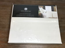 NEW Hotel Collection 600 Thread Count Extra Deep Queen Flat Sheet Ivory