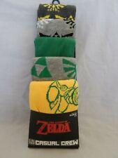 Legend of Zelda 5 Pair Socks Casual Crew Dress Nintendo Game NEW Licensed MENS