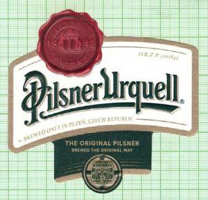 CZECH Plzen Brewery Pilsner Urquell new 2021 beer label B000 025