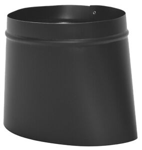 """Imperial BM0039 STOVE PIPE Black Oval To Round Connector 4-1/4"""" x 9-1/2"""" 8545485"""