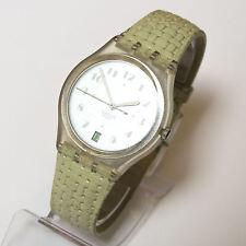 SWATCH Armbanduhr mit Datum Herren / Damen Uhr HAU Damenarmbanduhr transparent