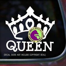QUEEN CROWN Vinyl Decal Sticker Princess Tiara Gay LGBT Car Window Laptop Sign