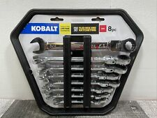 KOBALT 8-Piece 12-point Standard (SAE) Flexible Head Ratchet Wrench Set Pro 90