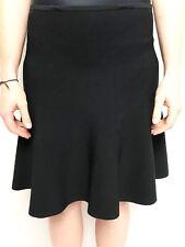 VERONIKA MAINE black ponte stretch kick flip skirt sz large