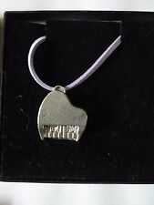 """Baseball Pitcher GT10 English Pewter On 18"""" Purple Cord Necklace"""