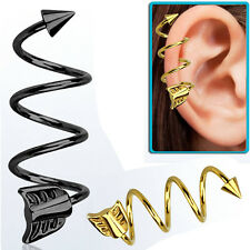 1-2PC Arrow Spike & Arrow 16G Helix Piercing Spiral Piercing 4mm Cone 2 Colors
