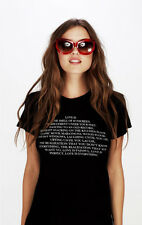 WILDFOX COUTURE LOVE IS LIST TOURIST CREW TEE TOP M 10 6 38!