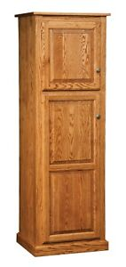 Amish Traditional Kitchen Pantry Storage Cupboard Roll Out Shelves Solid Wood