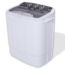 Portable Compact Mini 8.8lbs Twin Tub Washing Machine Washer Spinner Dryer Timer