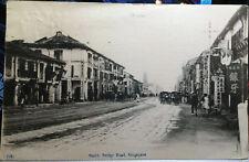 SINGAPORE, Post Card 1920 新加坡共和国 STREET SCENE, South Bridge Road