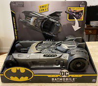 Spin Master DC Comics BATMOBILE & BATBOAT 2-in-1 Transforming Vehicles w/ Figure