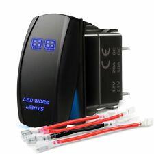 Blue Laser Rocker Switch Rear LED Light Bar On-Off 5 Pins 12V 20A car