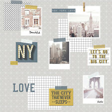 Smita Tapete Whats Up 2 WU20676 Gris Multicolor New York Vintage