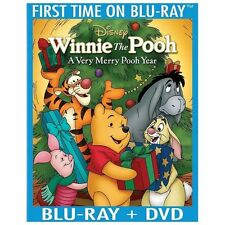 Winnie the Pooh - A Very Merry Pooh Year (Blu-ray/DVD, 2013, 2-Disc Set, Includ…