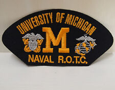 2 University of Michigan Naval ROTC patches patch R.O.T.C. memorabillia New