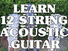 Learn 12 String Acoustic Guitar! Beginner Lessons DVD.Sound Amazing, Not Sloppy.