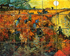 Vineyard Van Goch Mural Ceramic Backsplash Tile #898