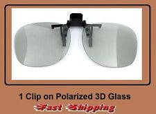 1 Clip-On 3D Glass polarized / polarised 3D glasses,Theater and Passive 3D TV'S
