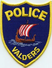 VALDERS WISCONSIN WI Sailing Ship POLICE PATCH