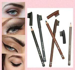 Professional Eyeliner Pencil Soft Waterproof Black Brown Grey Kohl Kajal Caped