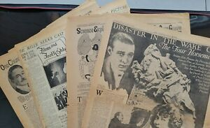 """""""RUDOLPH VALENTINO 1920's Newspaper articles """"DeMille Seeks Cast"""" Life of Christ"""