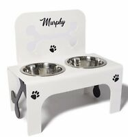 raised dog bowl stainless steel bowls personalised