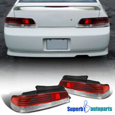 For 1997-2001 Honda Prelude Tail Lights Brake Lamps Red/Clear