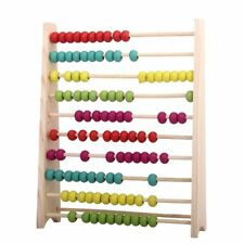 Wooden Abacus 100 Beads Counting Number Preschool Kid Math Learning Teaching Aid