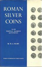 ROMAN SILVER COINS VOL.III PERTINAX - BALBINUS AND PUPIENUS - H.A. SEABY - 1969