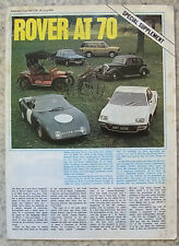 ROVER AT 70 SPECIAL SUPPLEMENT Publicity Brochure to 1974 The MOTOR REPRINT