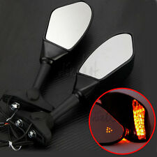 Motorcycle LED Rearview Mirrors Fit Kawasaki ZX6R ZX6RR ZX9R ZX10R ZX12R ZX636