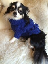 XSMALL PET CABLE KNIT JUMPER IN ROYAL BLUE