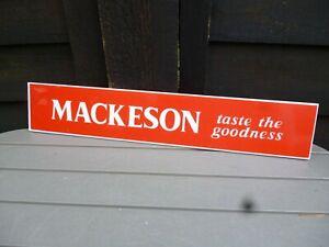 VINTAGE MACKESON STOUT SHELF STRIP PUB BAR PUMP LIGHT Man Cave Not Enamel Sign