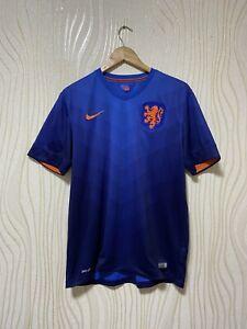 NETHERLANDS 2014 AWAY FOOTBALL SHIRT SOCCER JERSEY NIKE 577963-471 sz L