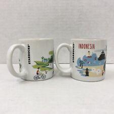 Starbucks Ubud Indonesia Series 3oz Demi Demitasse Espresso Cup Mug Set 2014