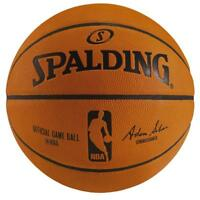 NBA Official Game Ball Size 7 Leather Basketball For Indoor Only From Spalding