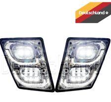 New Volvo VNL True LED Chrome Fog Light plus LED Trim Set   Pair   (LH+RH)