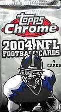 2004 Topps Chrome Football Sealed Retail Pack