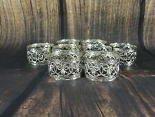 Set Of 8 Silver Plated Napkin Rings for the Dinner Table